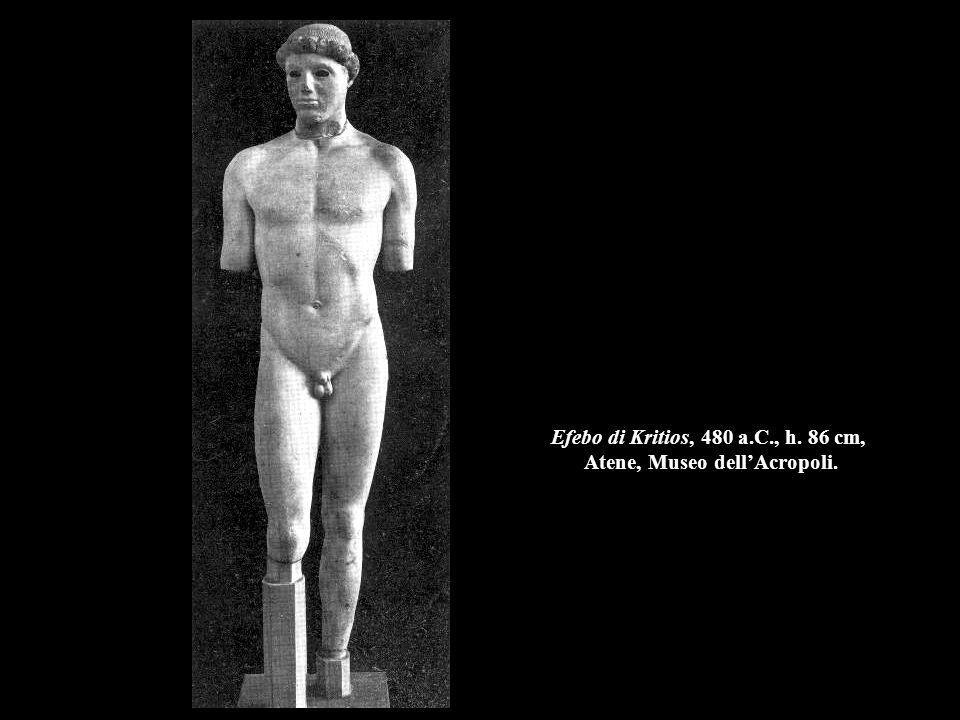Efebo di Kritios, 480 a.C., h. 86 cm, Atene, Museo dell'Acropoli.