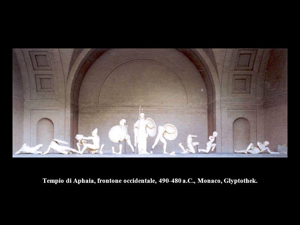 Tempio di Aphaia, frontone occidentale, 490-480 a.C., Monaco, Glyptothek.
