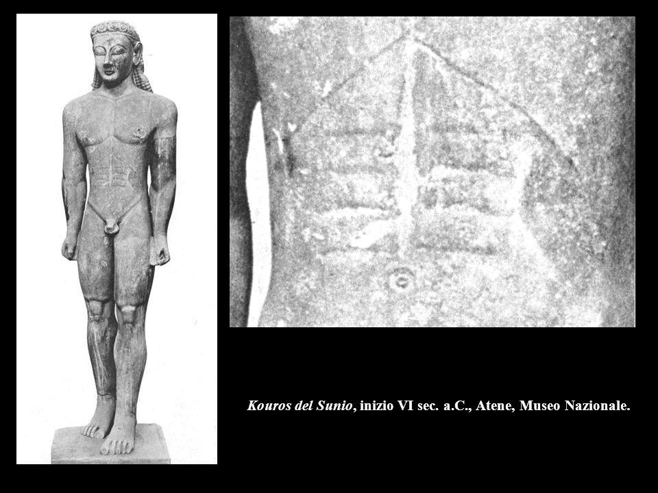 Arciere dal frontone occidentale del tempio di Aphaia, 490-480 a.C., Monaco, Glyptothek.
