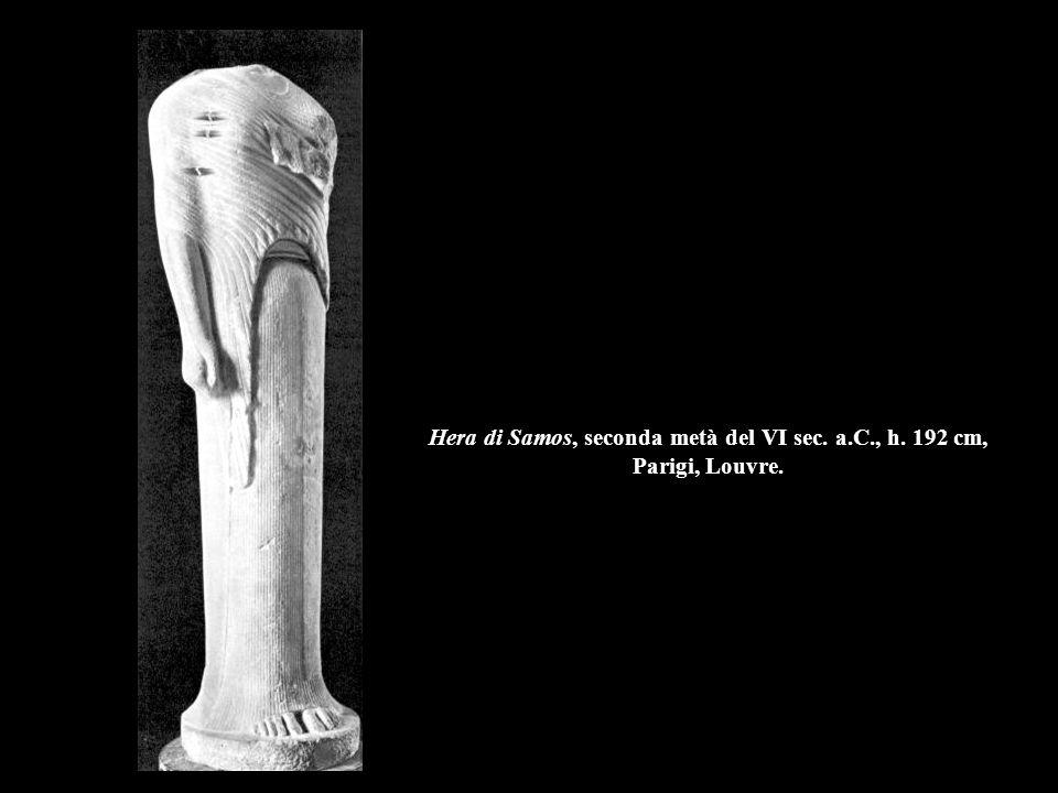 Hera di Samos, seconda metà del VI sec. a.C., h. 192 cm, Parigi, Louvre.