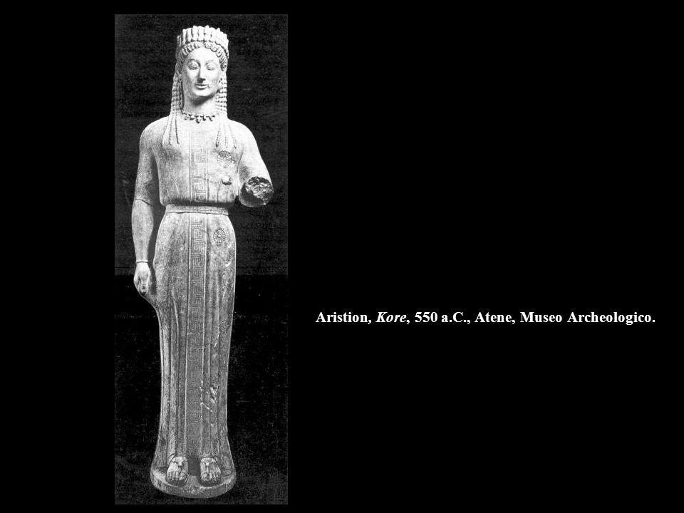 Aristion, Kore, 550 a.C., Atene, Museo Archeologico.