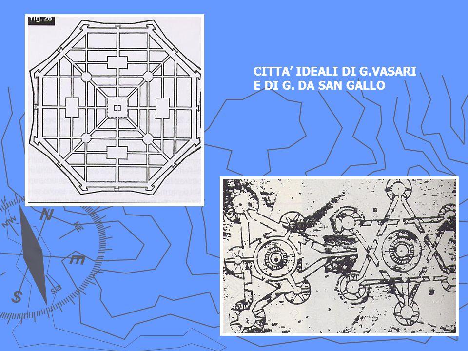 CITTA' IDEALI DI G.VASARI E DI G. DA SAN GALLO