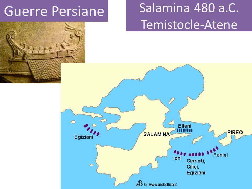 Salamina 480 a.C. Temistocle-Atene Guerre Persiane