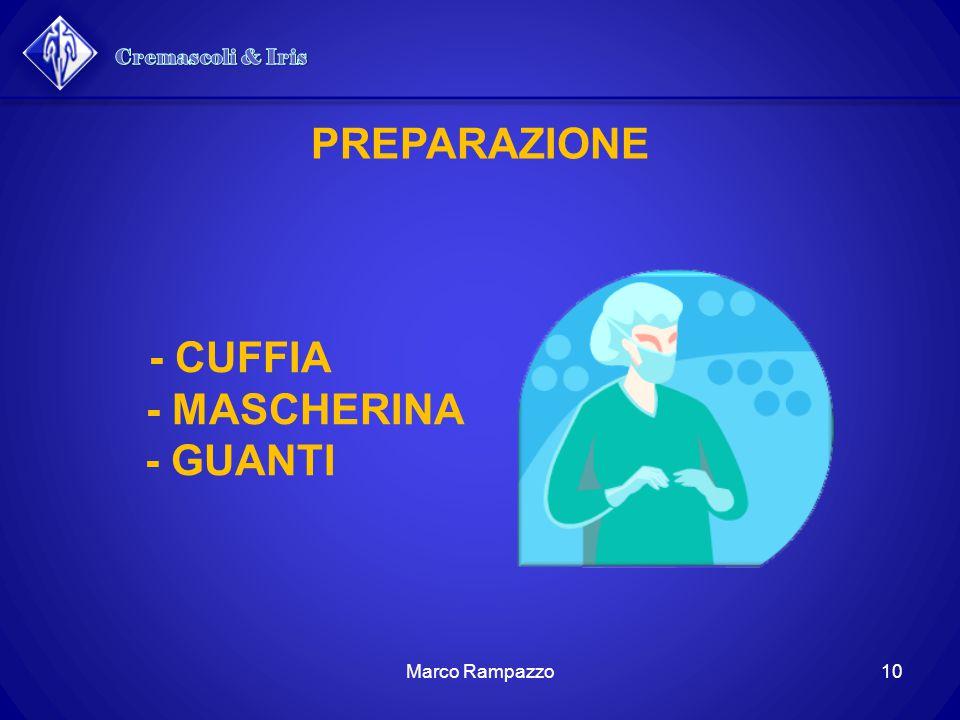 PREPARAZIONE - CUFFIA - MASCHERINA - GUANTI 10Marco Rampazzo