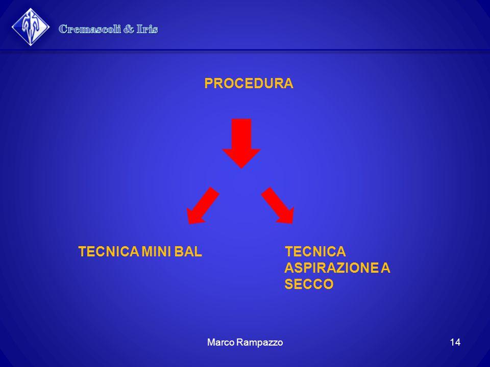 PROCEDURA TECNICA MINI BALTECNICA ASPIRAZIONE A SECCO 14Marco Rampazzo