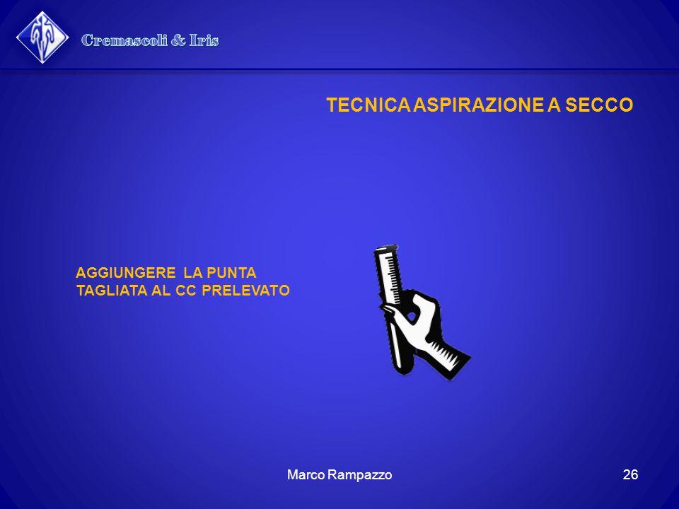 TECNICA ASPIRAZIONE A SECCO AGGIUNGERE LA PUNTA TAGLIATA AL CC PRELEVATO 26Marco Rampazzo
