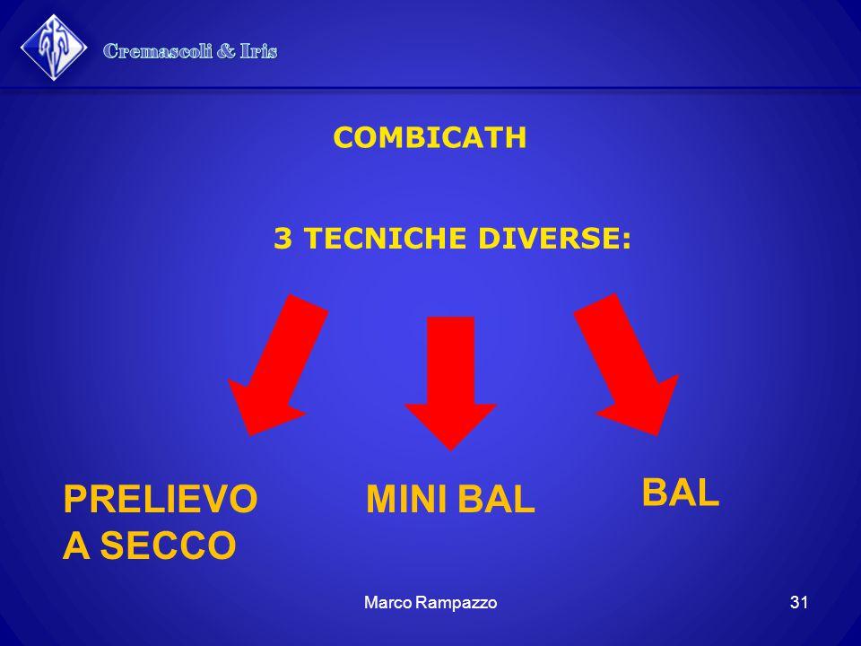 3 TECNICHE DIVERSE: COMBICATH PRELIEVO A SECCO MINI BAL BAL 31Marco Rampazzo