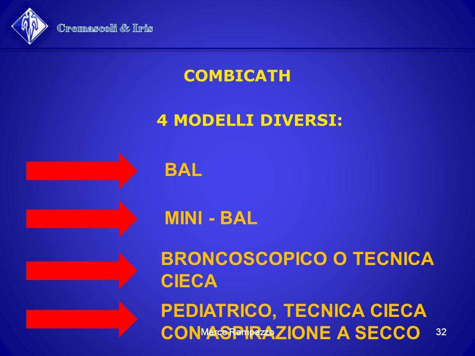 4 MODELLI DIVERSI: COMBICATH BAL MINI - BAL BRONCOSCOPICO O TECNICA CIECA PEDIATRICO, TECNICA CIECA CON ASPIRAZIONE A SECCO 32Marco Rampazzo