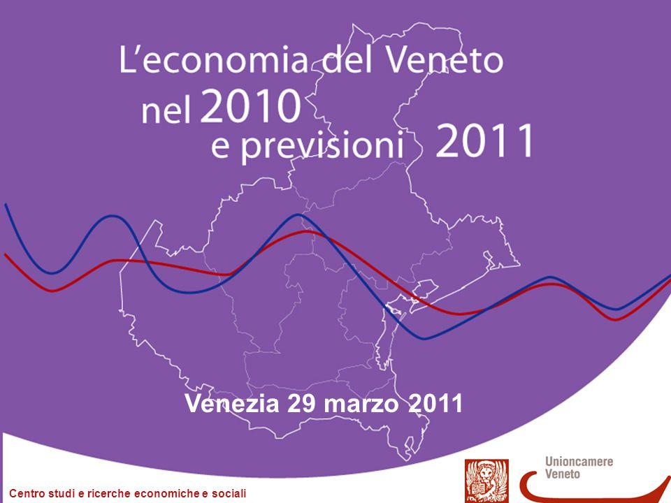 L'economica del Veneto nel 2010 e previsioni 2011 Venezia, 29 marzo 2011 2/28 L'economia del Veneto nel 2010 e previsioni 2011 Venezia, 29 marzo 2011 Serafino Pitingaro Centro Studi - Unioncamere del Veneto