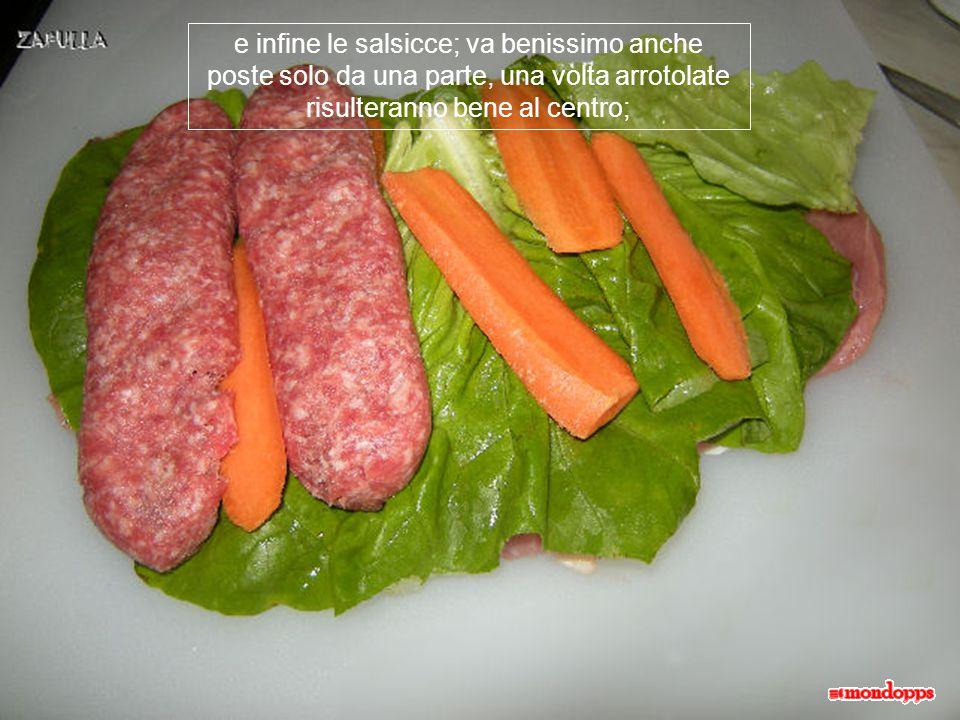 sopra alla lattuga poniamo le fettine di carote;