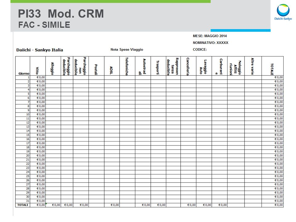 Presentation Name | CONFIDENTIAL 6 PI33 Mod. CRM FAC - SIMILE