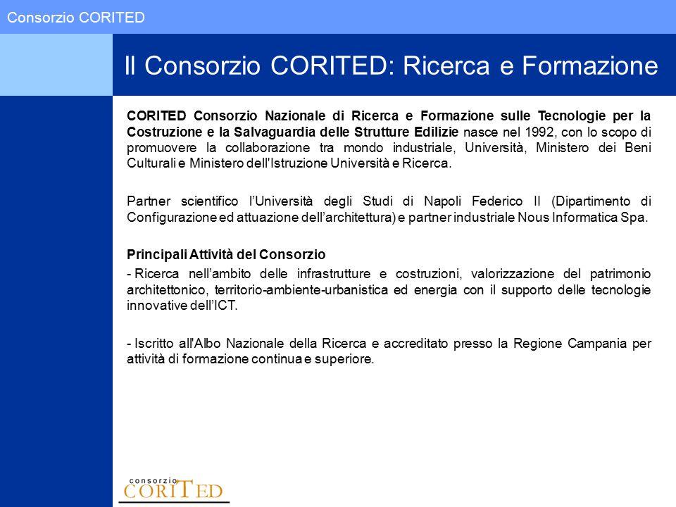 Consorzio CORITED Il CONSORZIO CORITED CORITED Consorzio Nazionale di Ricerca e Formazione sulle Tecnologie per la Costruzione e la Salvaguardia delle