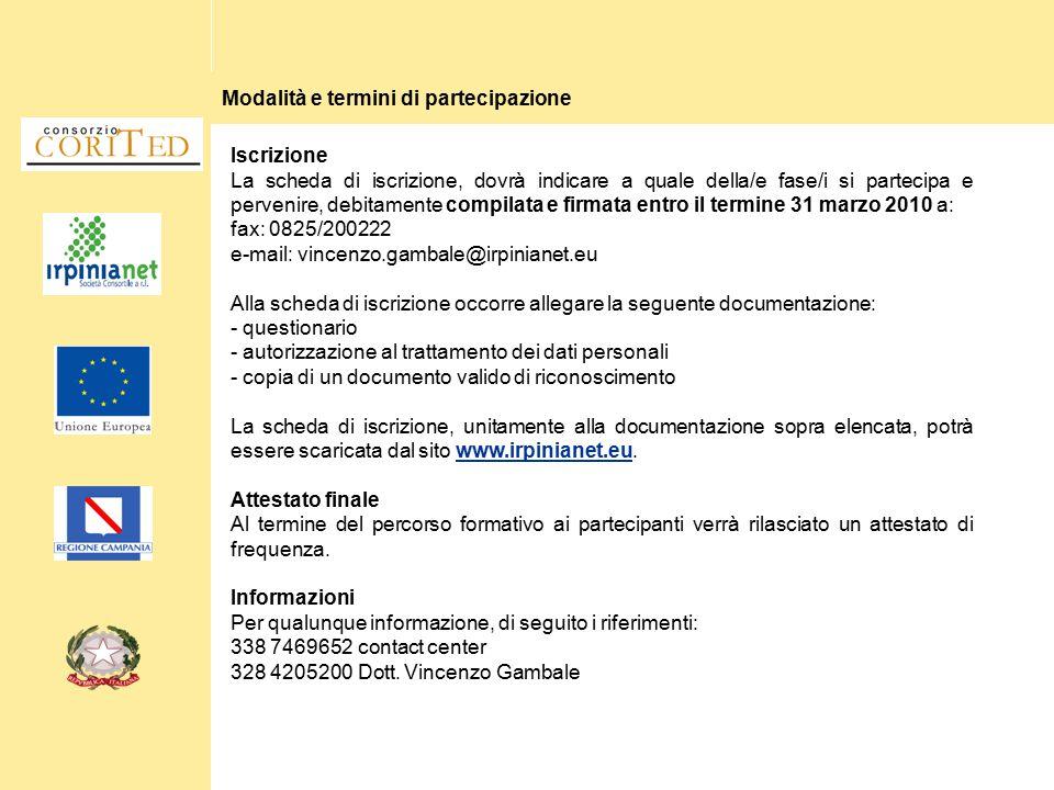 Modalità e termini di partecipazione Iscrizione La scheda di iscrizione, dovrà indicare a quale della/e fase/i si partecipa e pervenire, debitamente c