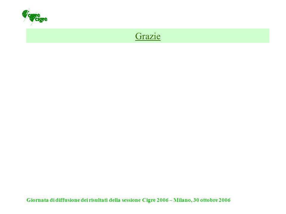 Giornata di diffusione dei risultati della sessione Cigre 2006 – Milano, 30 ottobre 2006 Grazie