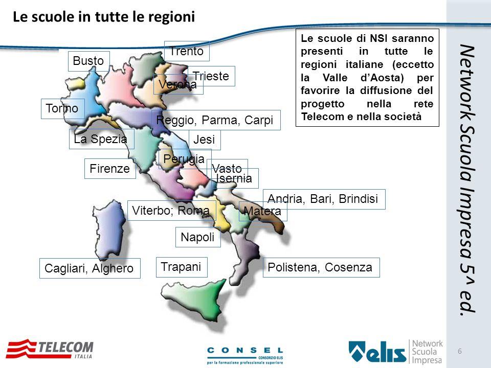 Le Scuole nel dettaglio 7 Network Scuola Impresa 5^ ed.