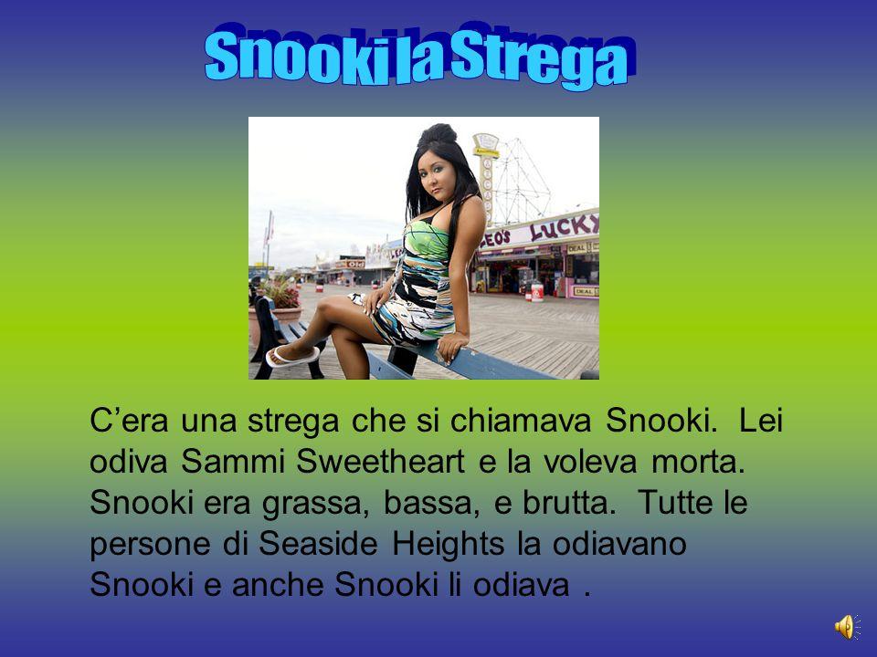 C'era una strega che si chiamava Snooki.Lei odiva Sammi Sweetheart e la voleva morta.