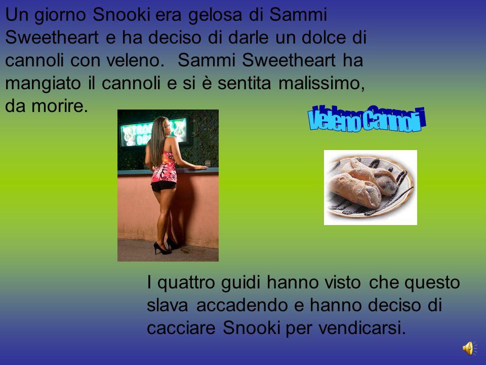 Un giorno Snooki era gelosa di Sammi Sweetheart e ha deciso di darle un dolce di cannoli con veleno.