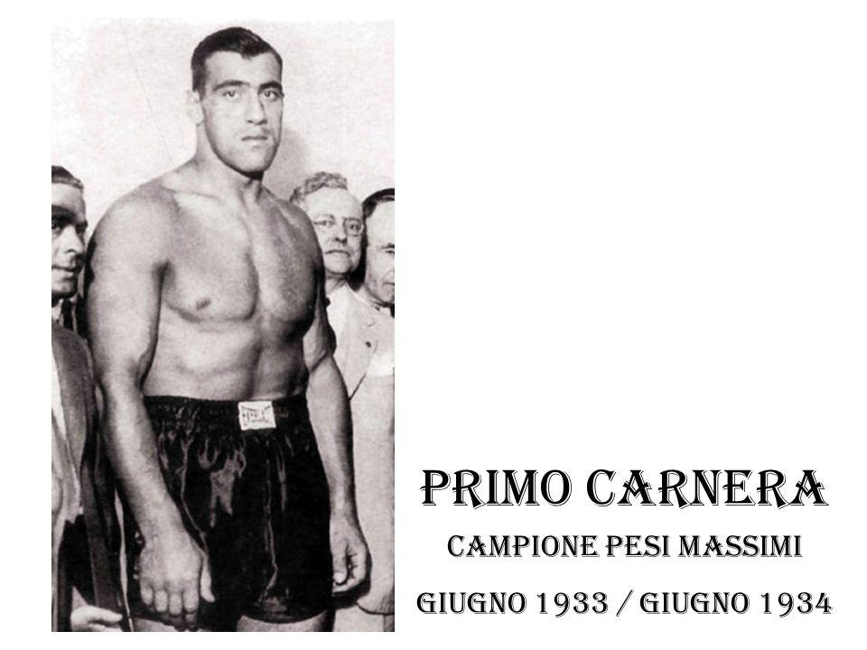 Primo carnera Campione pesi massimi Giugno 1933 / giugno 1934