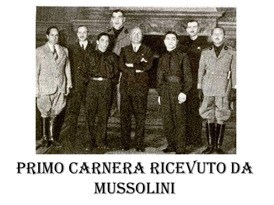 Primo carnera ricevuto da Mussolini