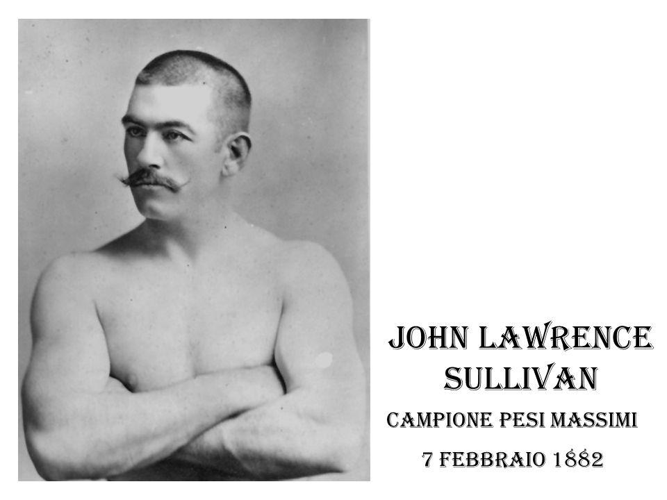 John Lawrence Sullivan Campione pesi massimi 7 febbraio 1882