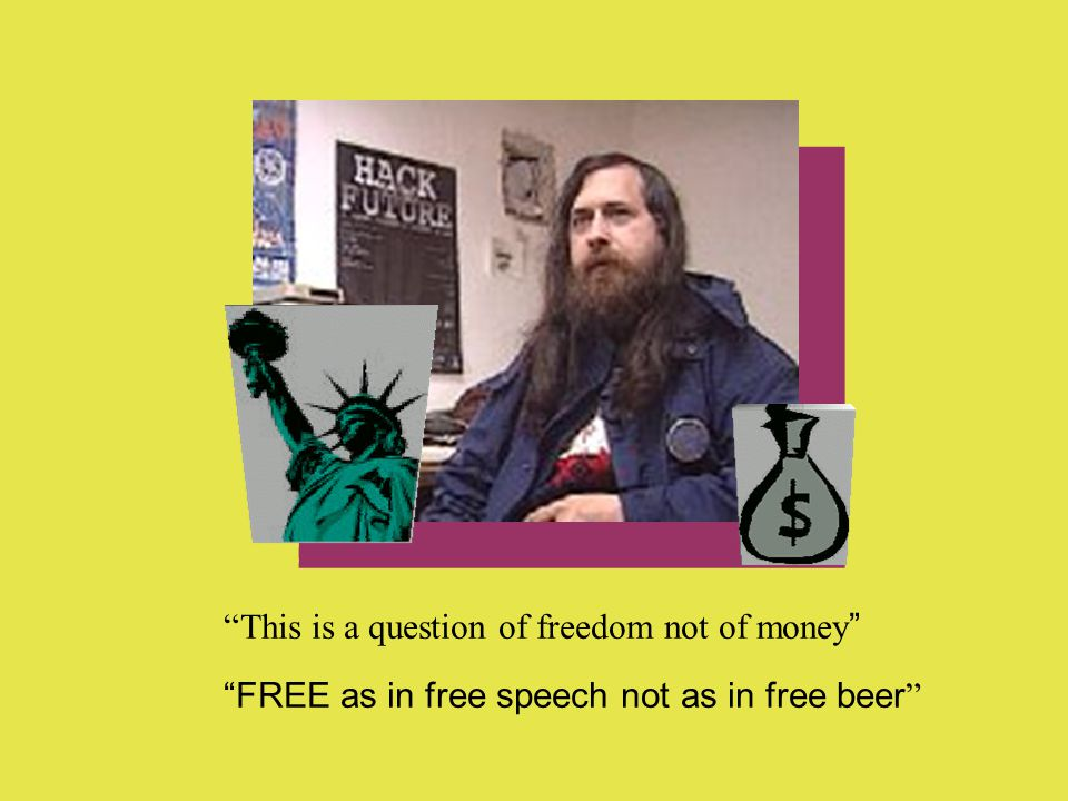 This is a question of freedom not of money FREE as in free speech not as in free beer