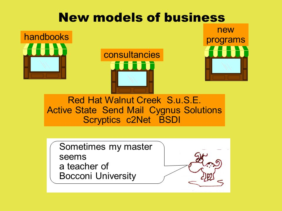 New models of business handbooks new programs consultancies Red Hat Walnut Creek S.u.S.E.