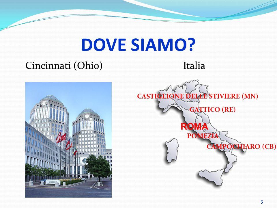 DOVE SIAMO? Cincinnati (Ohio)Italia 5 ROMA POMEZIA CASTIGLIONE DELLE STIVIERE (MN) GATTICO (RE) CAMPOCHIARO (CB)