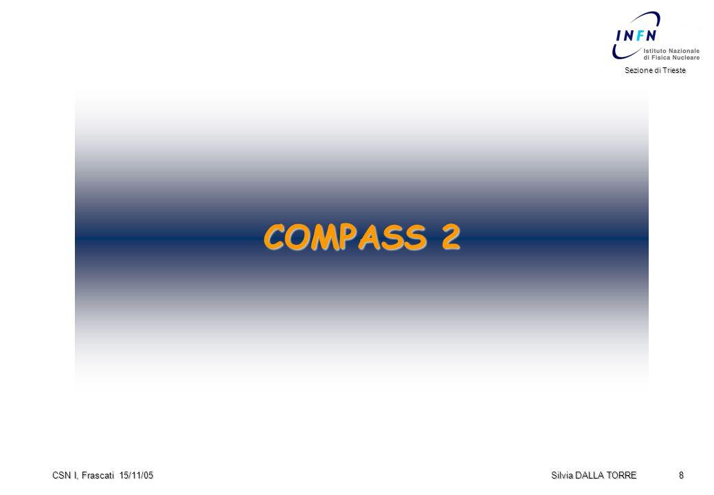 8 Sezione di Trieste Silvia DALLA TORRE CSN I, Frascati 15/11/05 COMPASS 2
