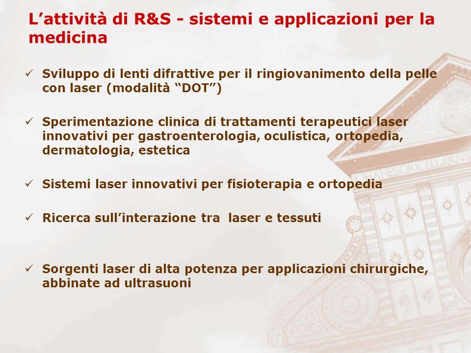 """L'attività di R&S - sistemi e applicazioni per la medicina Sviluppo di lenti difrattive per il ringiovanimento della pelle con laser (modalità """"DOT"""")"""