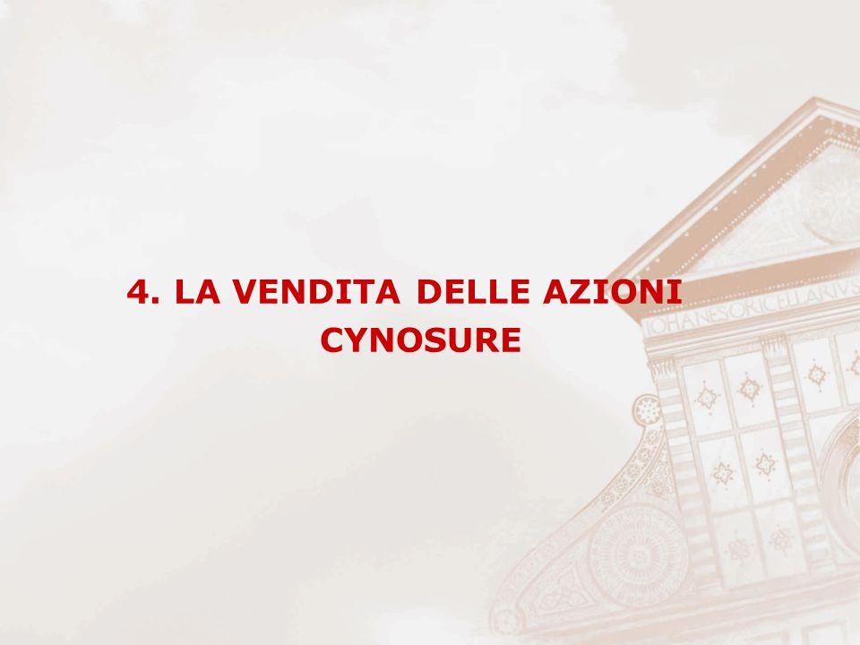 4. LA VENDITA DELLE AZIONI CYNOSURE