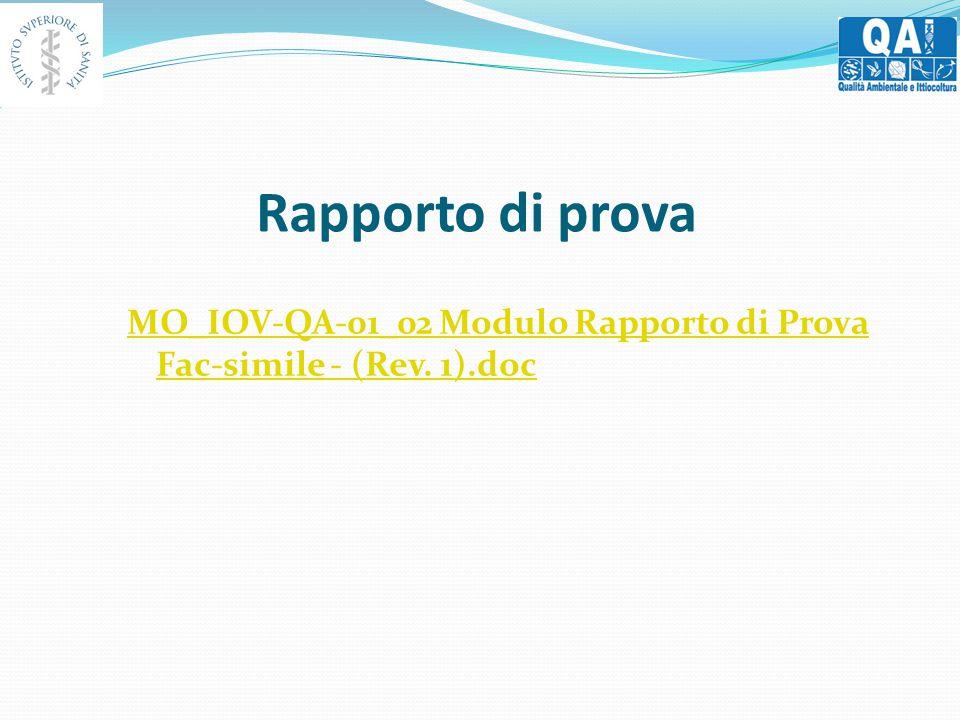 Rapporto di prova MO_IOV-QA-01_02 Modulo Rapporto di Prova Fac-simile - (Rev. 1).doc