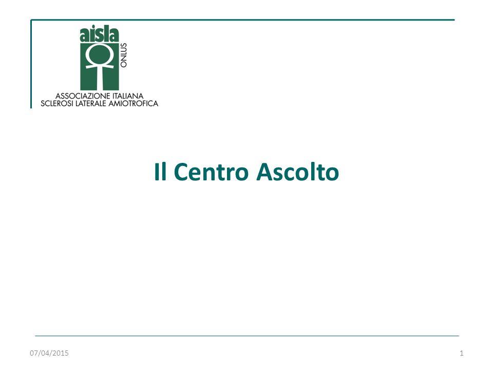 11 anni di Centro di Ascolto…  Costituito nel 2003  Ora è composto da 18 professionisti: 07/04/20152