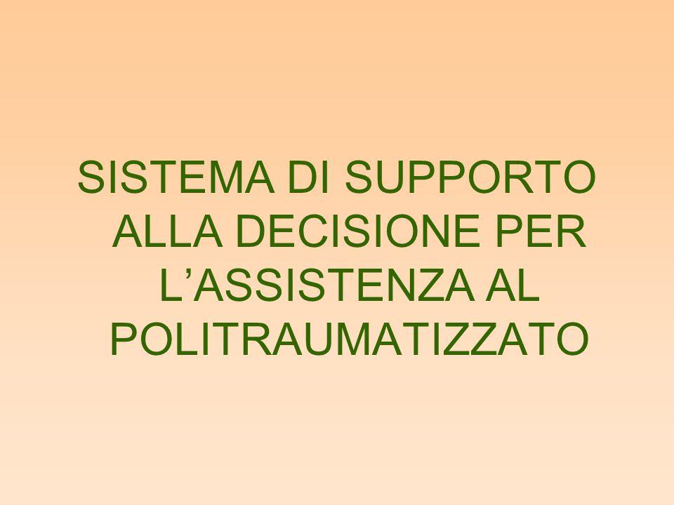 SISTEMA DI SUPPORTO ALLA DECISIONE PER L'ASSISTENZA AL POLITRAUMATIZZATO