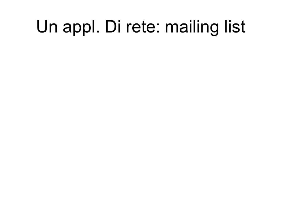 Un appl. Di rete: mailing list