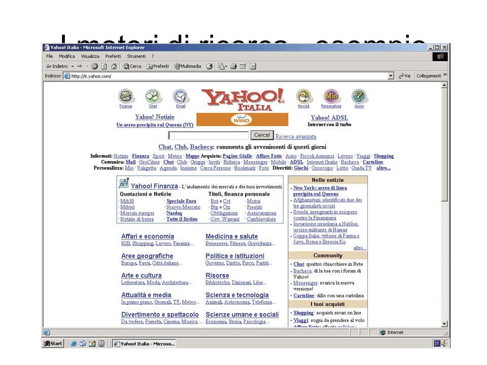 I motori di ricerca - esempio