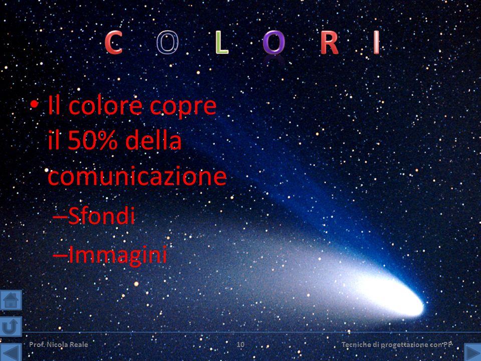 Il colore copre il 50% della comunicazione – Sfondi – Immagini Prof.