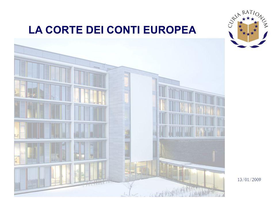 LA CORTE DEI CONTI EUROPEA 13/01/2009