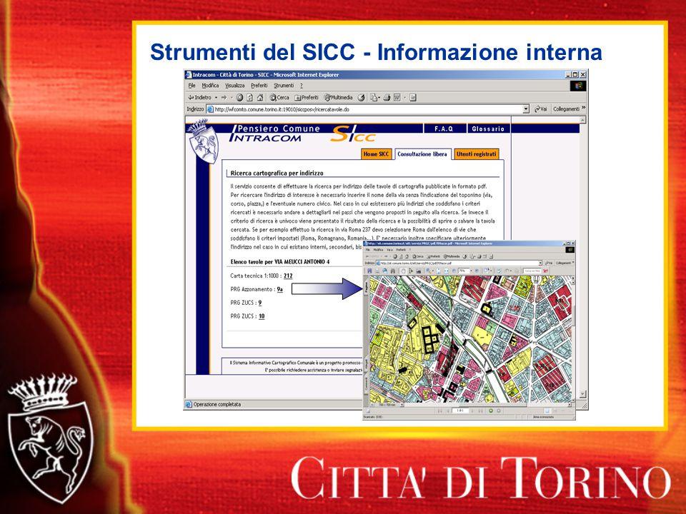 Strumenti del SICC - Informazione interna