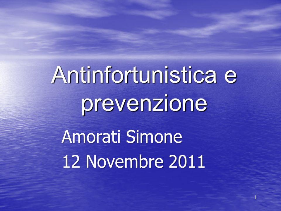 1 Antinfortunistica e prevenzione Amorati Simone 12 Novembre 2011