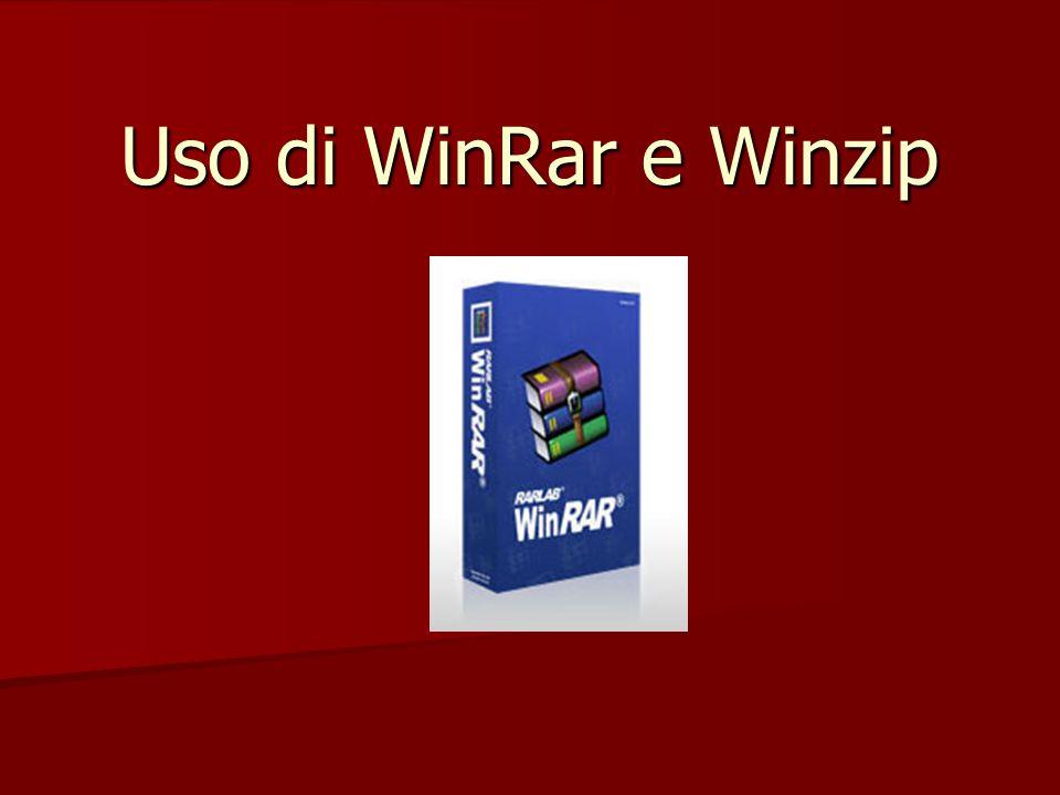 Uso di WinRar e Winzip