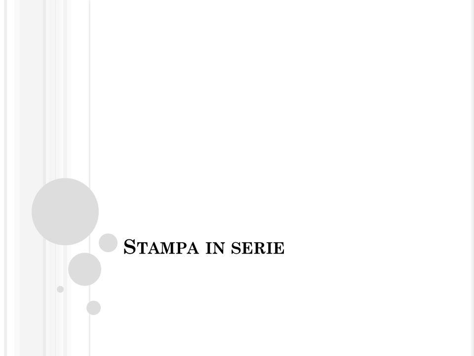 P ASSO 10 Selezionare l'intestazione della prima colonna; trascinare la selezione nel documento di testo, nel punto desiderato.
