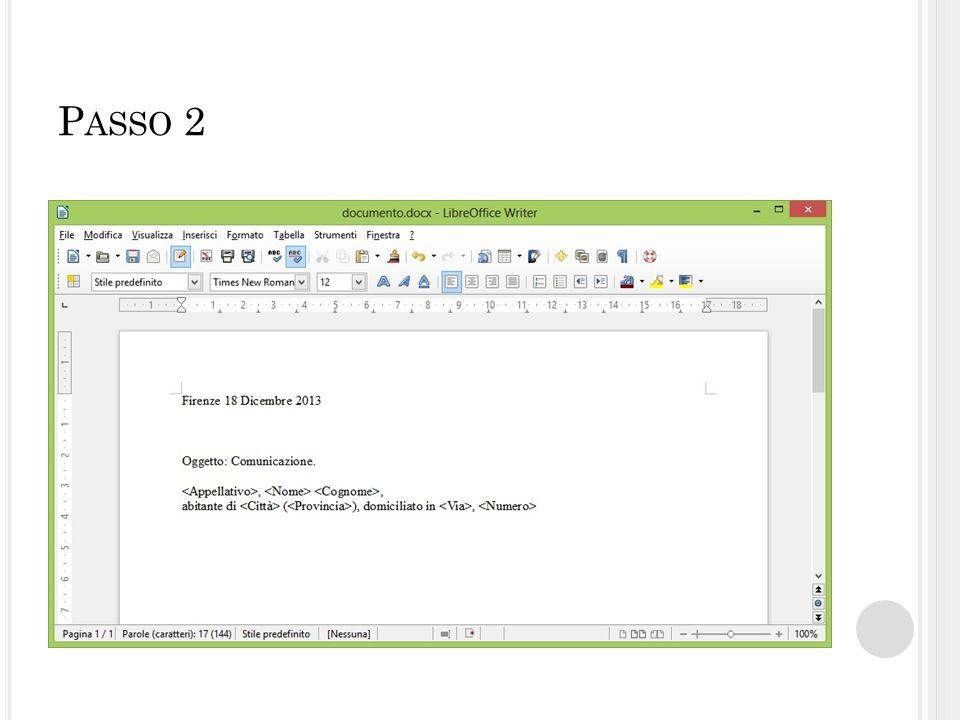 P ASSO 8 Aggiungere il file dati.xls e premere su OK .