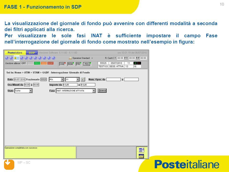 07/04/2015 MP – SC 10 La visualizzazione del giornale di fondo può avvenire con differenti modalità a seconda dei filtri applicati alla ricerca.