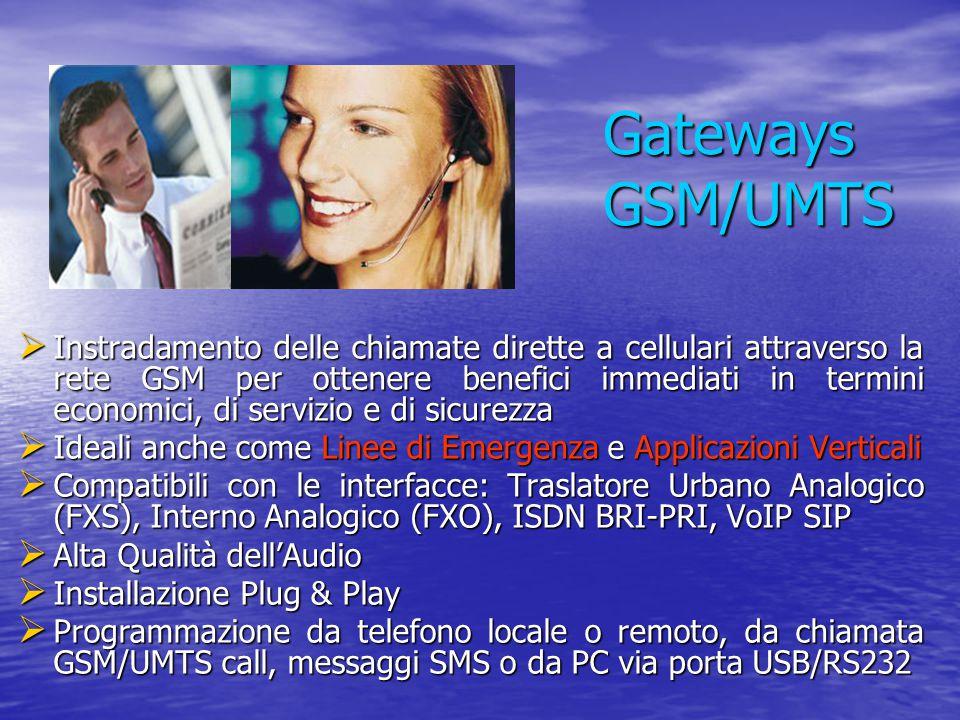  Instradamento delle chiamate dirette a cellulari attraverso la rete GSM per ottenere benefici immediati in termini economici, di servizio e di sicur