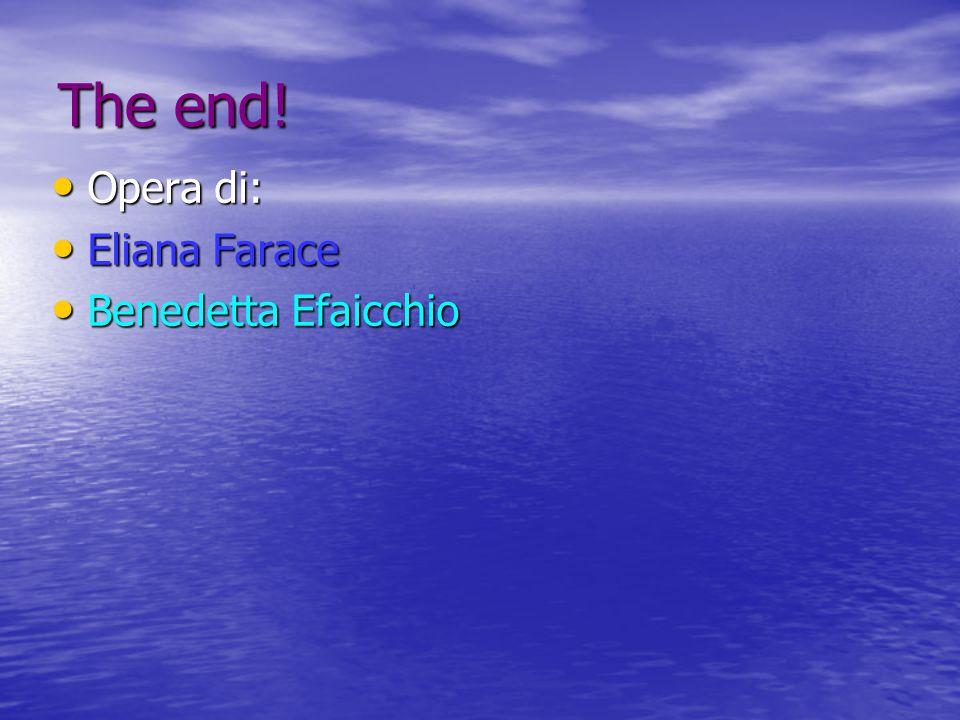 The end! Opera di: Opera di: Eliana Farace Eliana Farace Benedetta Efaicchio Benedetta Efaicchio
