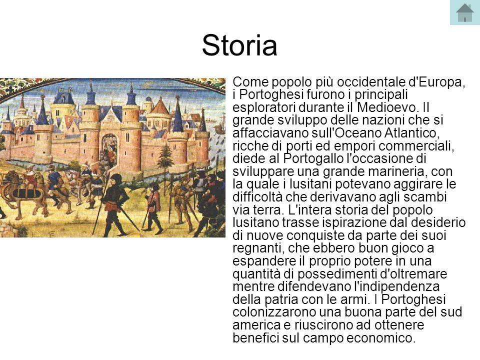 Storia Come popolo più occidentale d'Europa, i Portoghesi furono i principali esploratori durante il Medioevo. Il grande sviluppo delle nazioni che si