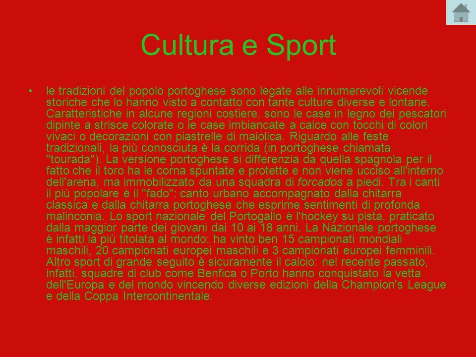 Cultura e Sport le tradizioni del popolo portoghese sono legate alle innumerevoli vicende storiche che lo hanno visto a contatto con tante culture div