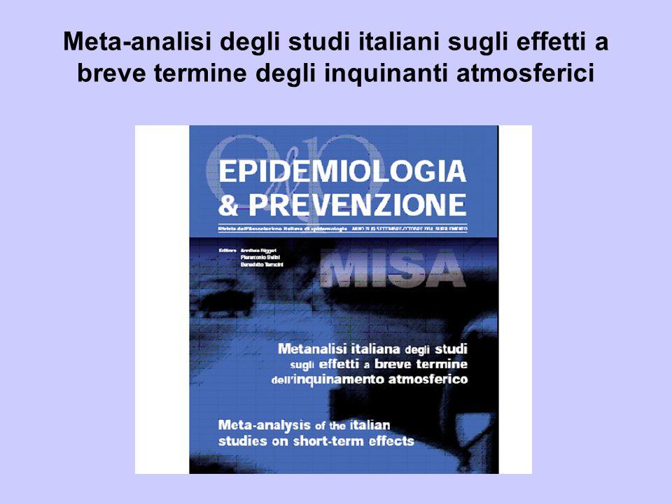 Meta-analisi degli studi italiani sugli effetti a breve termine degli inquinanti atmosferici