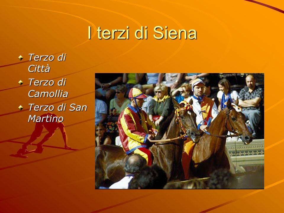 I terzi di Siena Terzo di Città Terzo di Camollia Terzo di San Martino