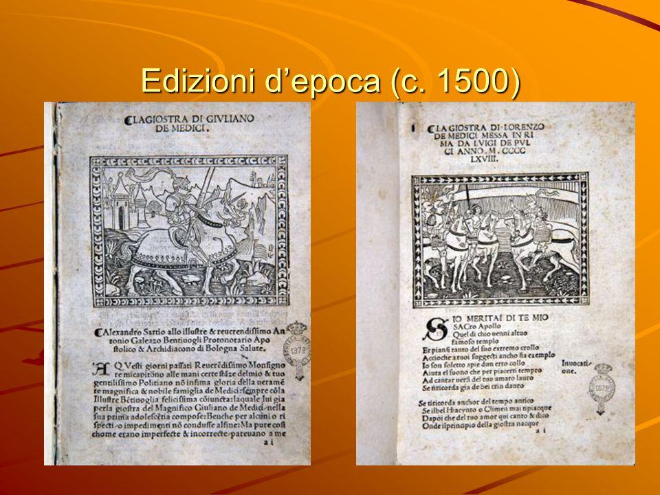 Edizioni d'epoca (c. 1500)